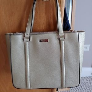 Kate Spade Gold Leather Tote